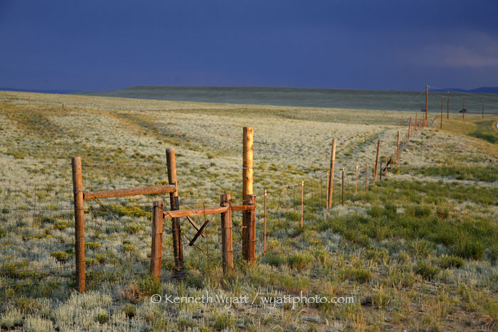 fence, prairie, Colorado, Crested Butte photo