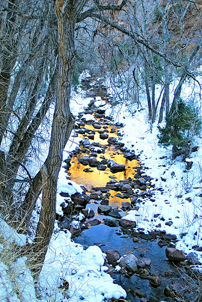 Colorado, river, creek, gold, winter, Cripple Creek, Phantom photo