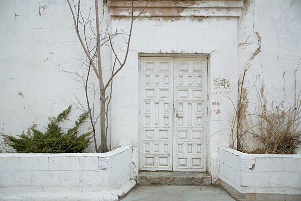 Santa Fe, door, white photo