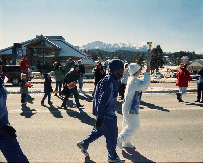 olympics, torch, Woodland Park, Vectra Bank, Colorado photo