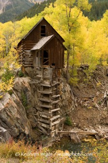 Crystal Mill, pumphouse, Colorado, Crystal, Marble, fall