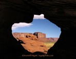 Clay Pot Arch, Arizona, Monument Valley, desert, arch