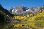 Maroon Bells, mountain, Colorado, Aspen, fall color