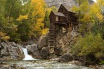 Crystal Mill, pumphouse, fall, Colorado, Crystal, Marble, wa