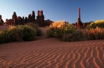 desert, Arizona, Utah, Monument Valley, dunes, sunrise, rock