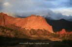 Pikes Peak, Garden of the Gods, Colorado Springs, sunrise, K